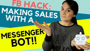 making sales with a facebook bot